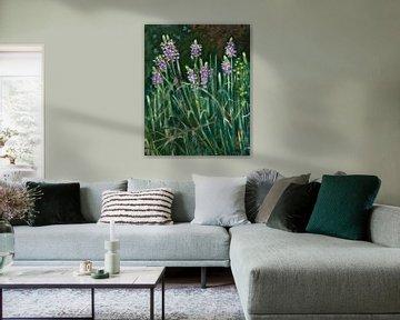 Teichpflanzen von Antonie van Gelder Beeldend kunstenaar