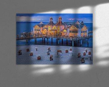 Sonnenuntergang Sellin Pier, Rügen von Henk Meijer Photography