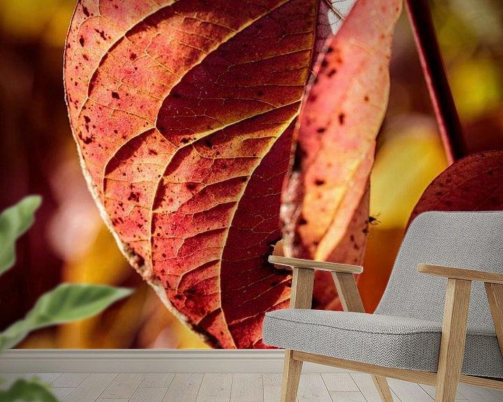 Sfeerimpressie behang: Herfstkleuren van Rob Boon
