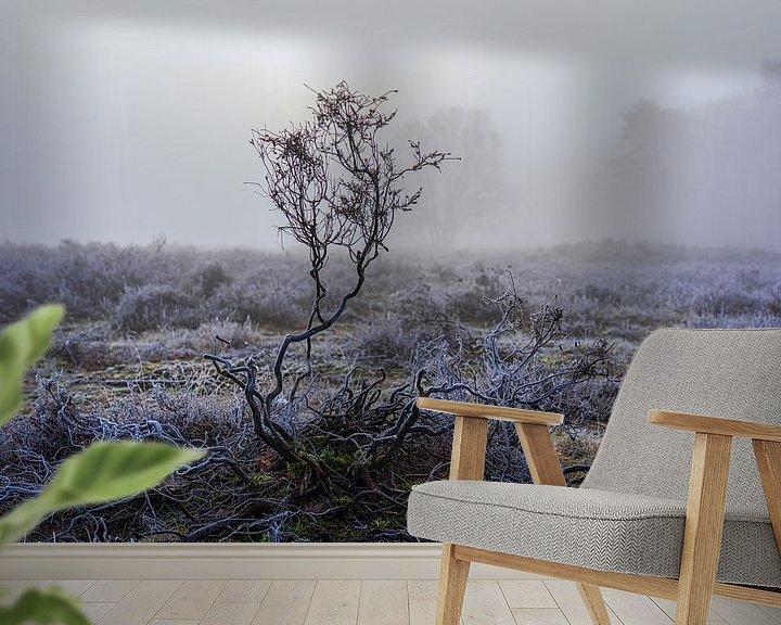 Sfeerimpressie behang: Heidelandschap van Etienne Michel