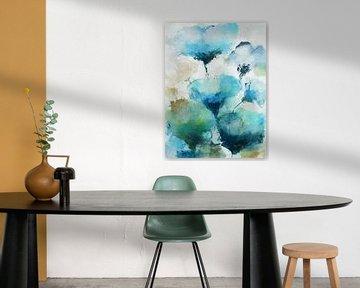 Blauwe bloemen van Angel Estevez
