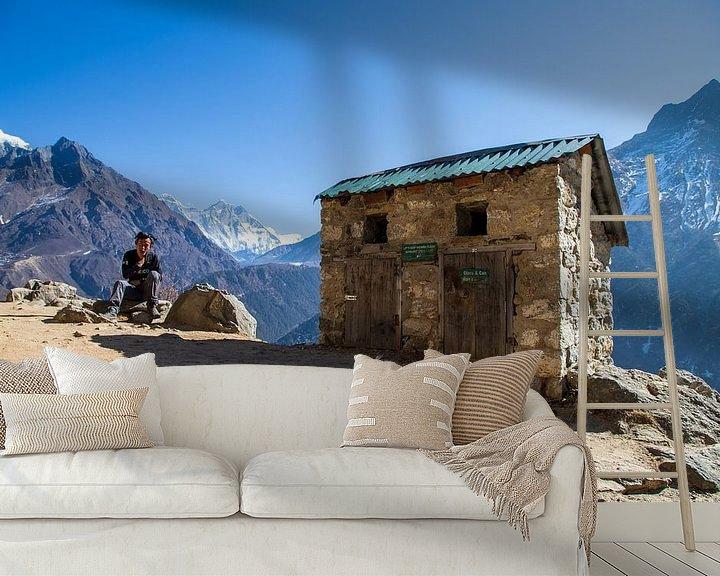 Sfeerimpressie behang: Hou Khumbu schoon. van Ton Tolboom