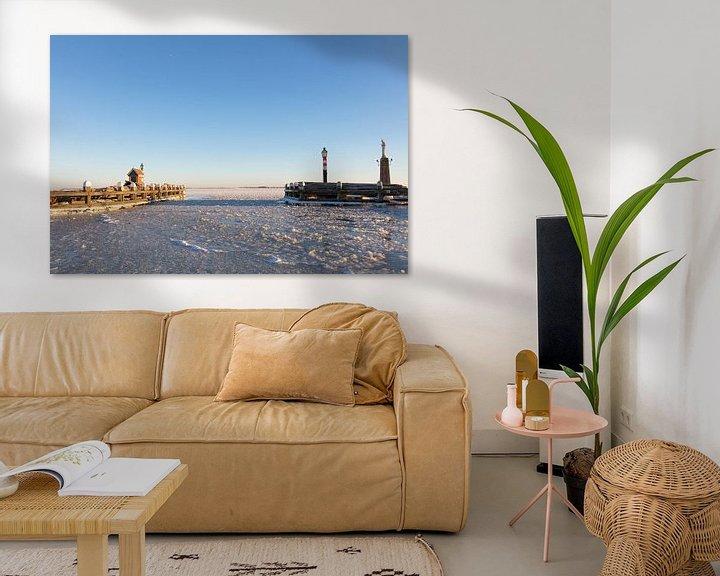 Sfeerimpressie: Haveningang Volendam van Johan Zwarthoed