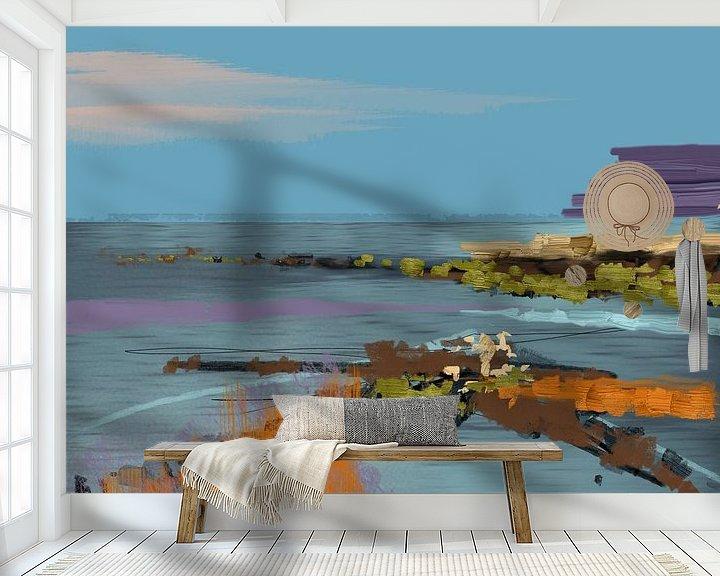 Sfeerimpressie behang: Landschap, adventure trip. van SydWyn Art