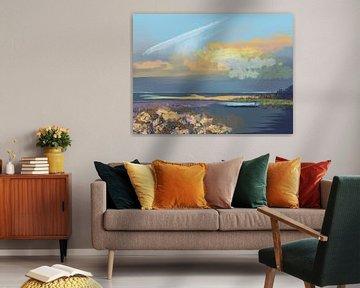 Landschap, Robinson Beach. van SydWyn Art