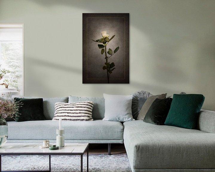 Beispiel: Elegante weiße Rose   Vintage-Stil gold von Melanie Viola
