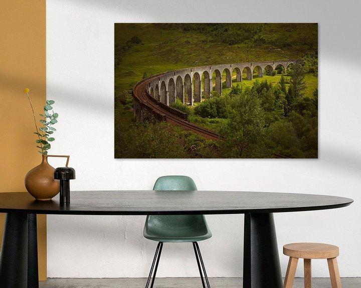 Sfeerimpressie: Zonlicht op Glenfinnanviaduct in Schotland van Arja Schrijver Fotografie