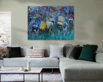 Wielrenners in de Tour de France van Paul Nieuwendijk