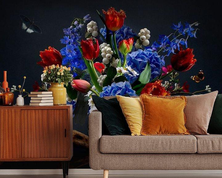 """Beispiel fototapete: Stillleben mit Blumen """"Royal Lotus"""" von Sander Van Laar"""