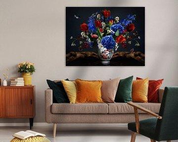 Royal Lotus Bloemstilleven van Sander Van Laar