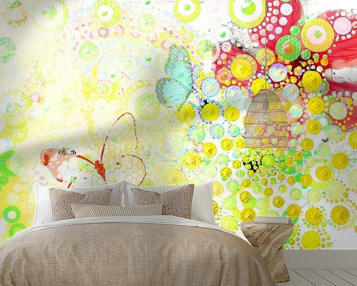 Sfeerimpressie behang: lente I van Dray van Beeck