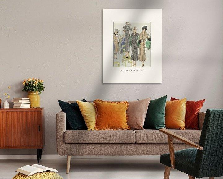 Sfeerimpressie: La course sportive | Historische mode prent | vintage Art Deco fashion advertentie van NOONY