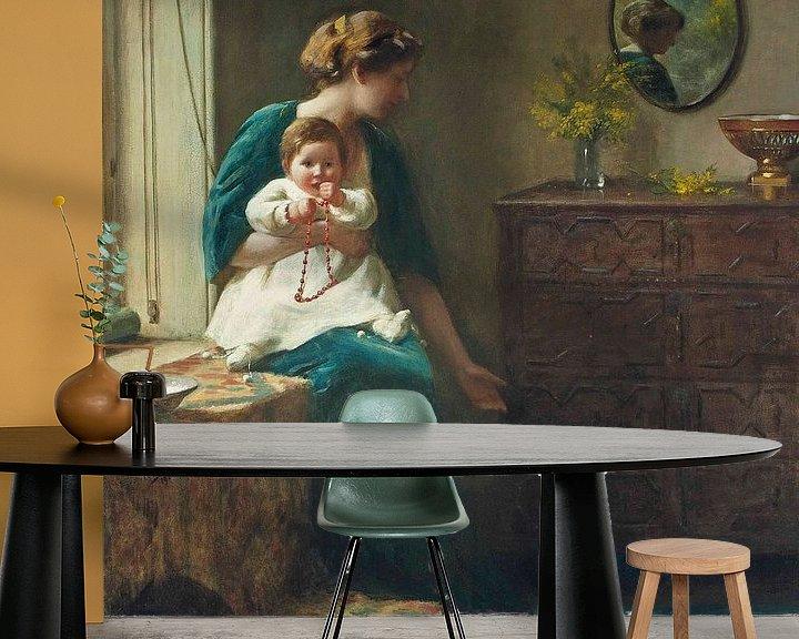 Sfeerimpressie behang: The Tame Robin van Antonije Lazovic