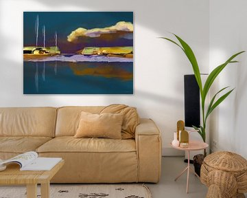 Landschaft, Der violette Ort. von SydWyn Art