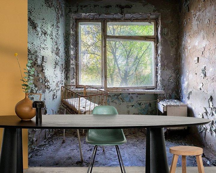 Beispiel fototapete: Entbindungszimmer im verlassenen Krankenhaus. von Roman Robroek