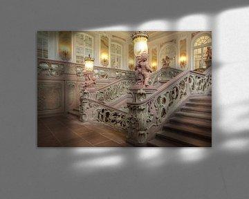 De trap in het keurvorstelijk paleis in Trier van Berthold Werner