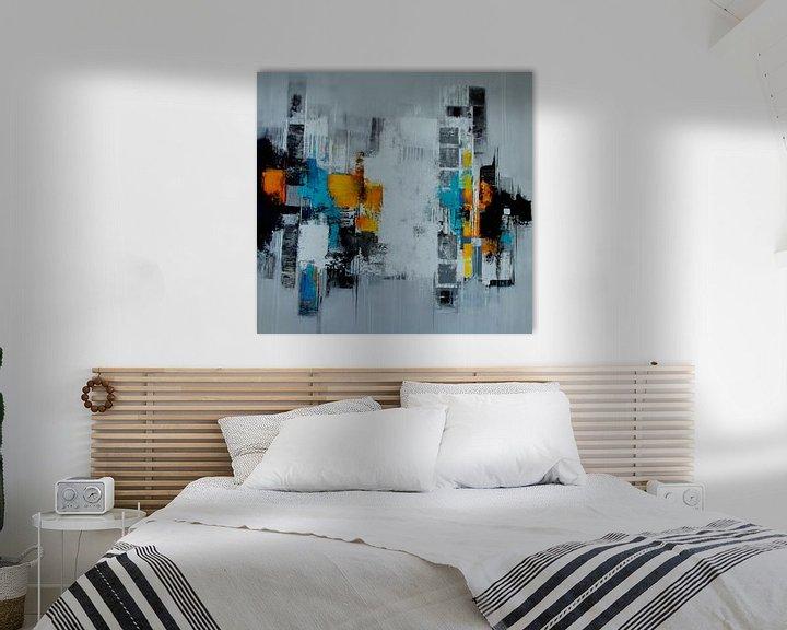 Beispiel: Abstrakt auf Grau von Claudia Neubauer