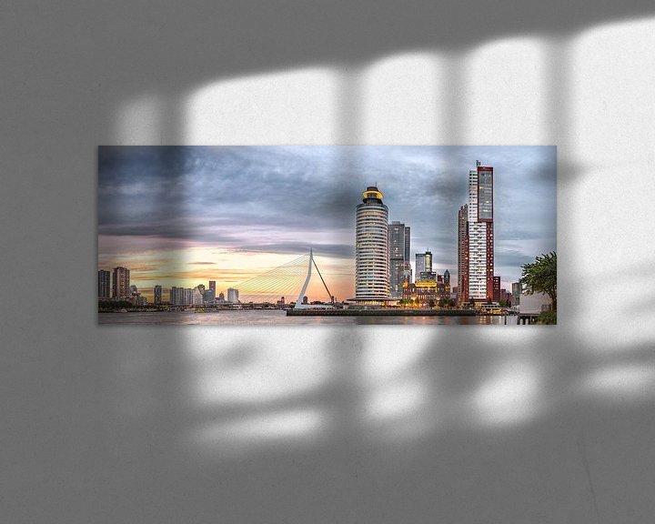 Sfeerimpressie: Kop van zuid met Erasmusbrug van Prachtig Rotterdam