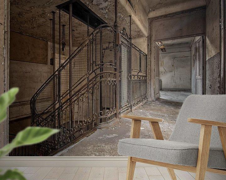 Sfeerimpressie behang: Trap of lift? van Iris van Heusden