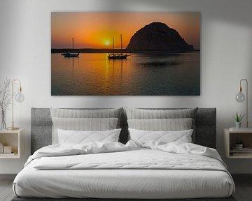 Zonsondergang in Morro Bay, Californië