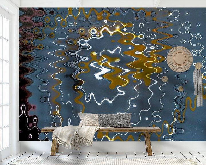 Sfeerimpressie behang: Rimpels van Dick Jeukens