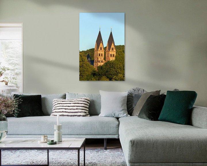 Beispiel: Basilika St. Kastor im Abendlicht, Koblenz, Rheinland-Pfalz, Deutschland, Europa von Torsten Krüger