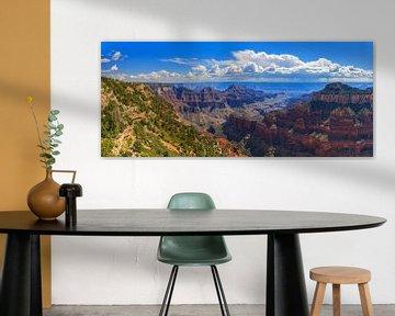 Panorama van de Grand Canyon, Arizona van Henk Meijer Photography