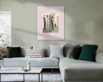 La fête | Het klassieke feest | Historische Art Deco minimal print | van NOONY