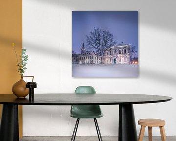 Verschneiter Schlossplatz in der Nacht - Breda