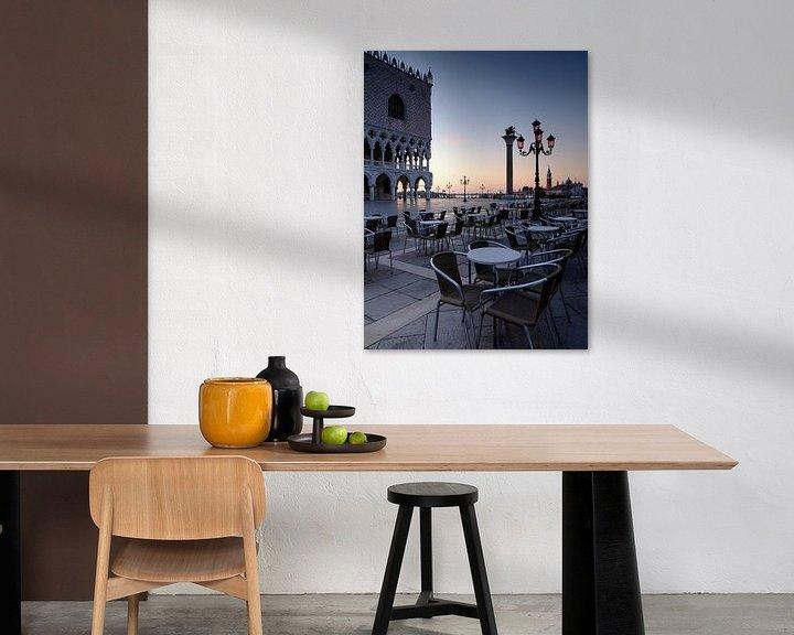 Beispiel: Morgenstimmung am Markusplatz in Venedig von Andreas Müller