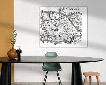 Historische plattegrond van Leiden van Margot van Veelen