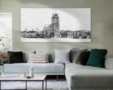 Architektonische Skizze Dordrecht von Arjen Roos