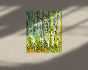 im Birkenwald von Claudia Gründler