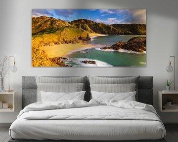 Droomstrand in Ierland (panoramaformaat) van Daniela Beyer
