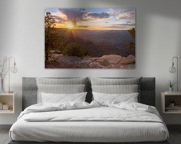 Sonnenuntergang am Grand Canyon in Amerika von Linda Schouw