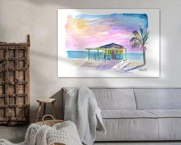 Karibik Strand Bar Hütte in Virgin Gorda von Markus Bleichner