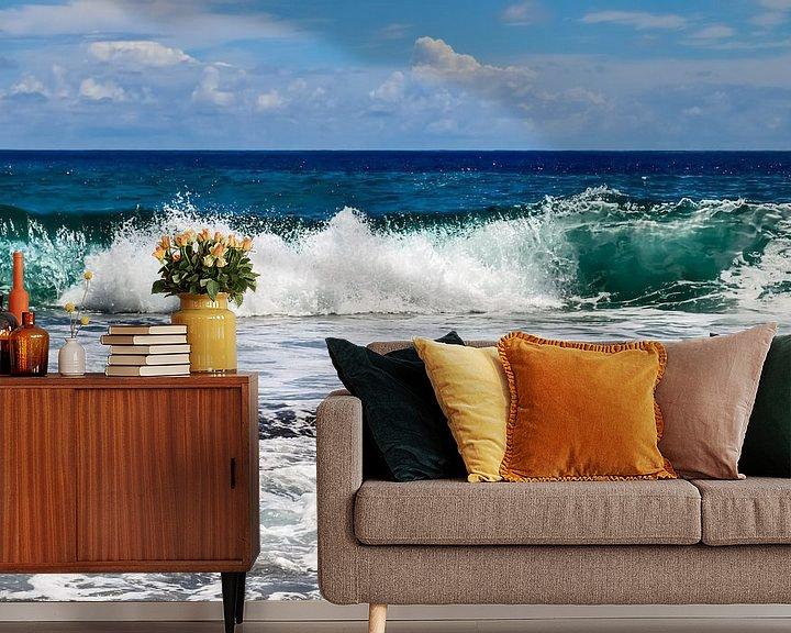 Beispiel fototapete: Wilde Ozeanwellen auf den Seychellen von MPfoto71