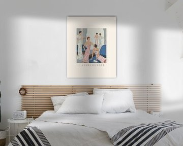 L'heure du café | Art Deco Fashion Print | Chic und minimalistisch von NOONY