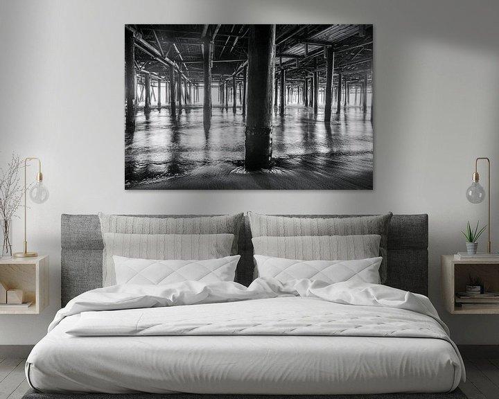 Sfeerimpressie: Prachtig lijnenspel gevormd door de pilaren van de Santa Monica pier van Retinas Fotografie