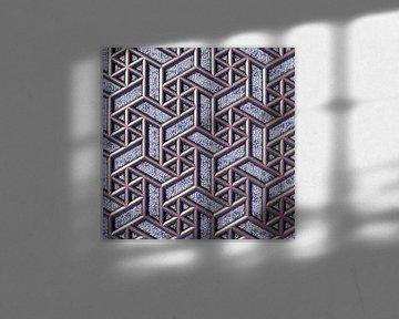 Abstraktes geometrisches Muster aus Fraktalen von Frank Heinz