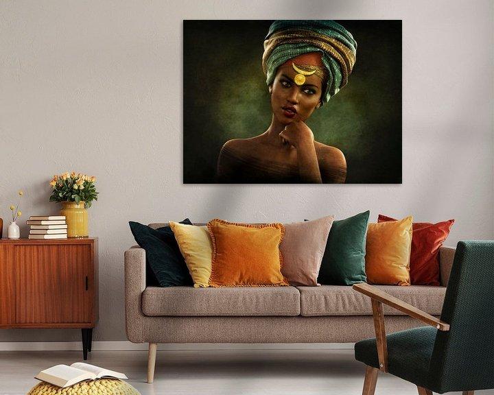 Beispiel: Vintage afrikanischen Porträt von Arjen Roos