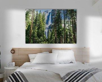 Yosemite Falls in Yosemite Nationaal Park, Californië van Linda Schouw