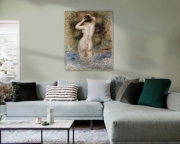 Mosaik Badende Frau, Akt, Pierre-Auguste Renoir - 1890 von Atelier Liesjes