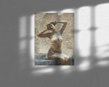 Mosaik Frau beim Bad, Theodoros Ralli von Atelier Liesjes