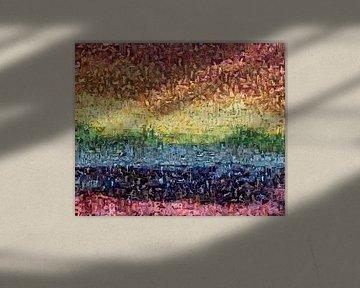 Regenboog mozaïek van Atelier Liesjes