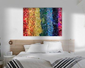Regenboog mozaïek van foto's met erotiek van Atelier Liesjes