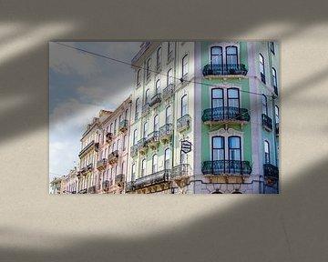Lissabon Rue Dom Pedro V von Vera van den Bemt