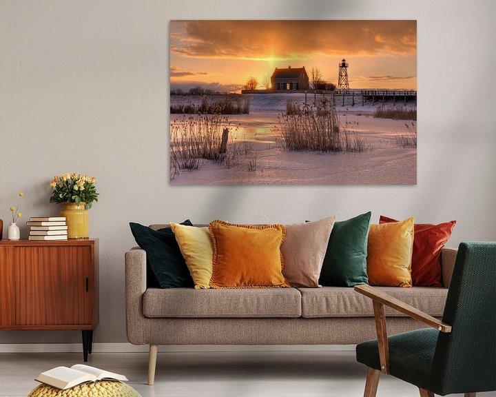 Sfeerimpressie: Oude haven Schokland van Fotografie Ronald