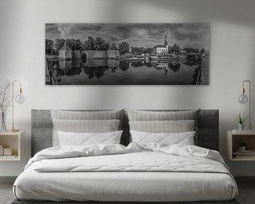 Breda - Spanjaardsgat - Hafen - Schwarz und Weiß von I Love Breda