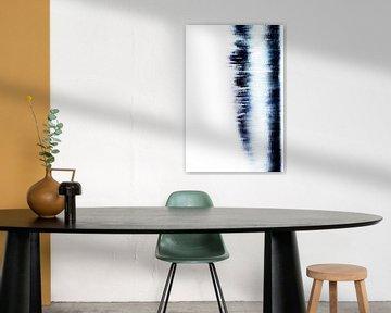 Digitaal Abstract, Blauw water 3 van Henriëtte Mosselman